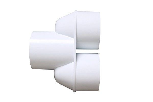 White Spa Bubble Bath 3 Way PVC Fittings / Flexible 3 Way Pipe Fitting
