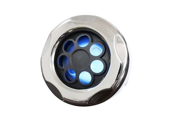 "5"" LED Pulsating Jet  Adjustable Cluster Storm Hot Tub Jets With Dark Silver Glitter"