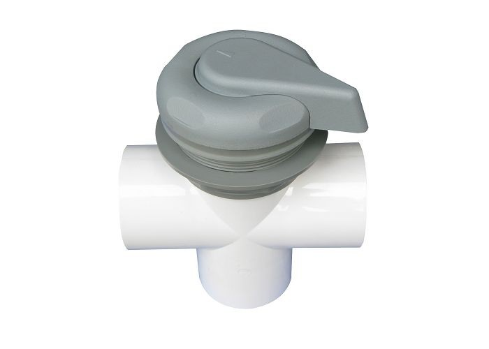 ABS , PVC Hot Tub Diverter Valve With 2 Port And 5 Scallop , Spa Diverter Valve